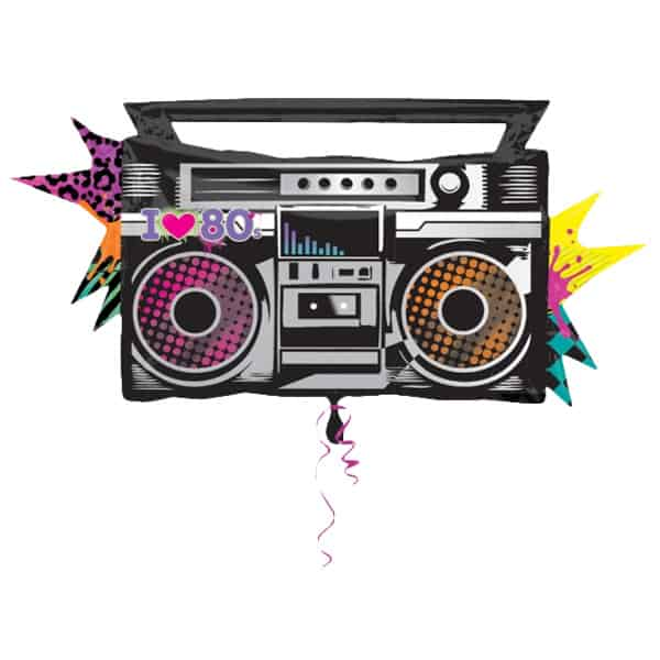 Totally 80s Boombox Helium Foil Giant Balloon 89cm / 35 in