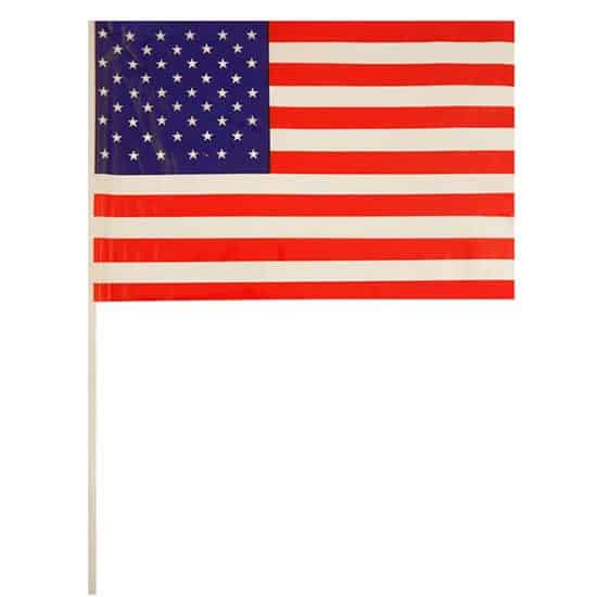 United States Hand-held Waving Flag - 12 x 7 Inches / 30 x 17cm