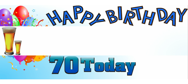70th Birthday Personalised Banners
