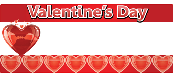 Valentines Day Personalised Banners