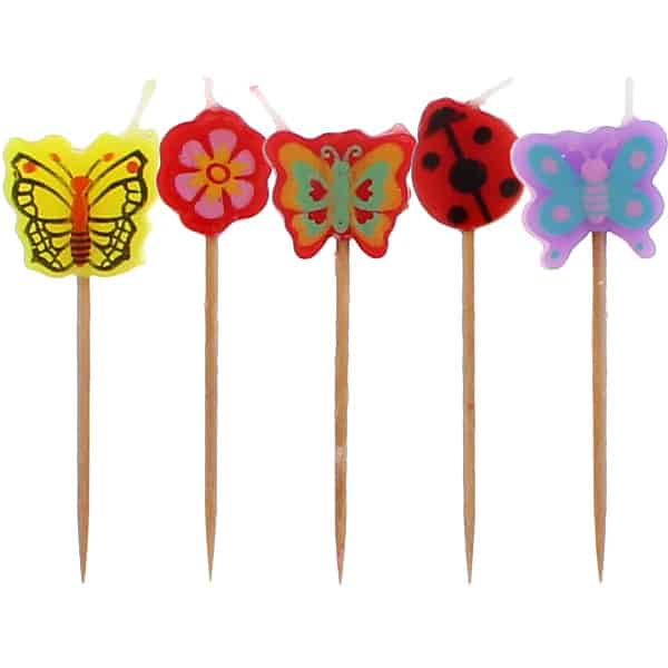 Butterfly Garden Party Candles - Pack of 5 Product Image