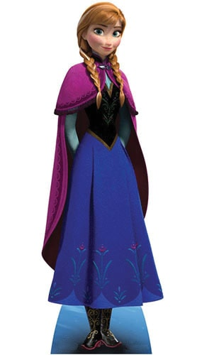 Disney Frozen Anna Lifesize Cardboard Cutout 155cm - PRE-ORDER Product Gallery Image