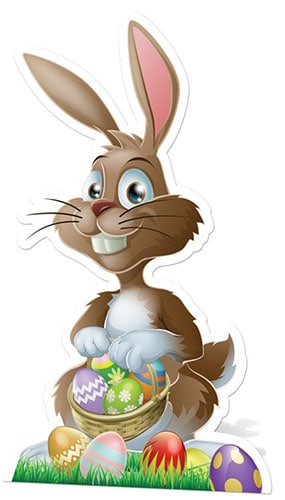 Easter Bunny Cardboard Cutout - 97cm Product Gallery Image