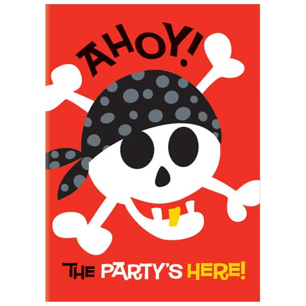 Pirate Fun Invitations with Envelopes - Pack of 8 Product Image
