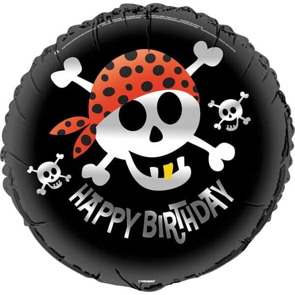 Pirate Fun Theme Round Foil Helium Balloon 46cm / 18 Inches