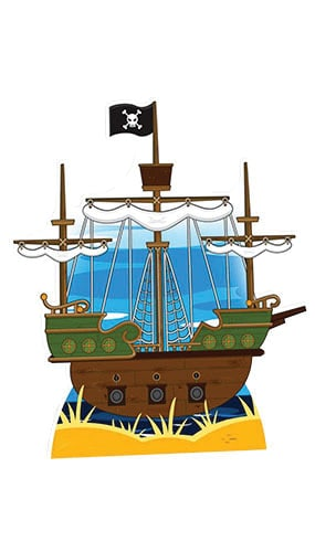 Pirate Ship Cardboard Cutout - 120cm Product Gallery Image