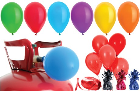 Helium Gas With Plain Colour Balloons Packages