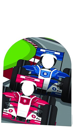 Racing Cars Stand In Cardboard Cutout - 120cm Product Gallery Image