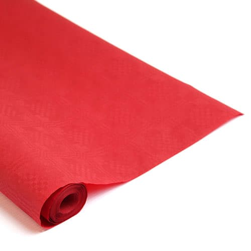 Red Paper Banquet Roll - 8m x 1.18m Product Image