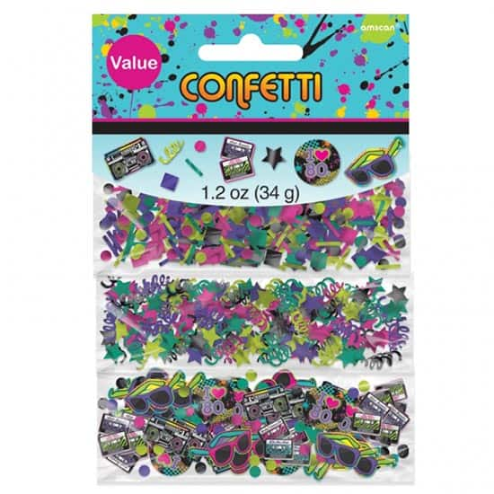 Totally 80's Table Confetti Value Pack - 34 Grams - Pack of 3