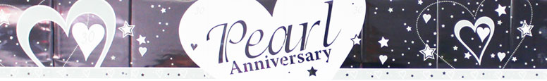 Pearl Wedding Anniversary Foil Banner – 2.74m