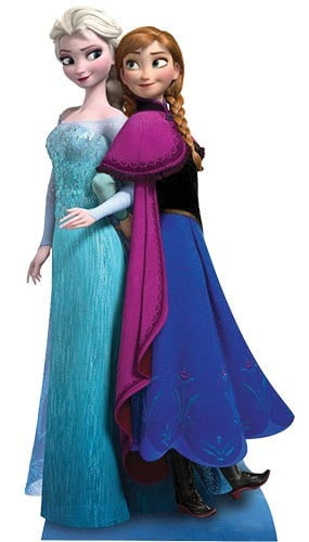 Disney Frozen Anna & Elsa Lifesize Cardboard Cutout - 162cm Product Gallery Image