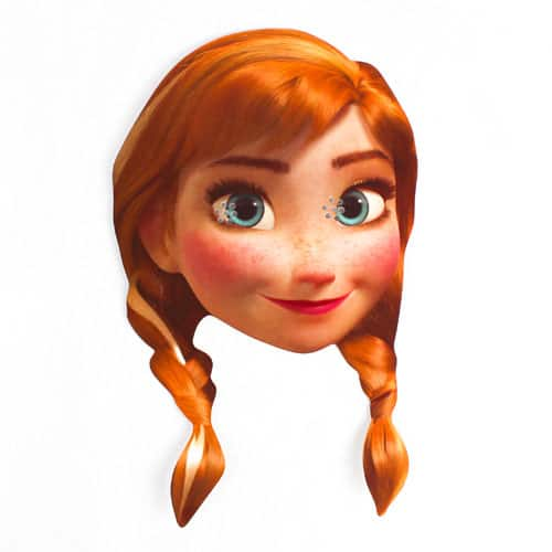 Disney Frozen Anna Cardboard Face Mask Product Image