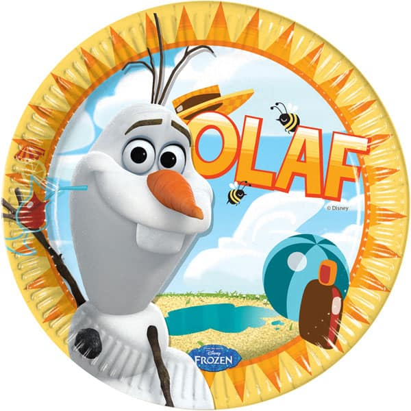 Disney Frozen Summer Olaf Paper Plate - 9 Inches / 23cm