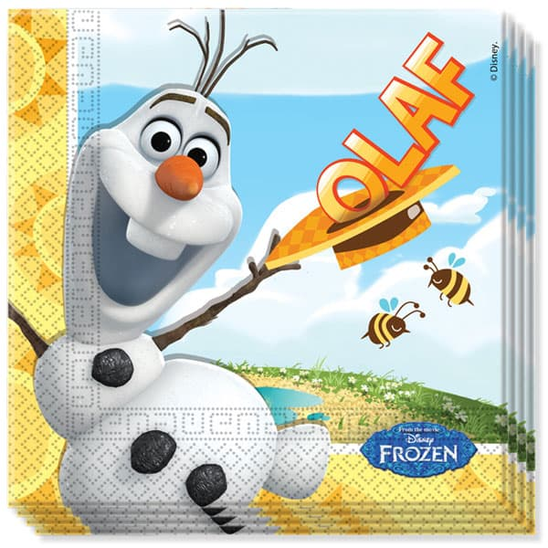 Disney Frozen Summer Olaf 2 Ply Luncheon Napkins - 13 Inches / 33cm - Pack of 20
