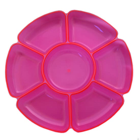 Neon Pink Large Section Tray - 16 Inches / 40cm