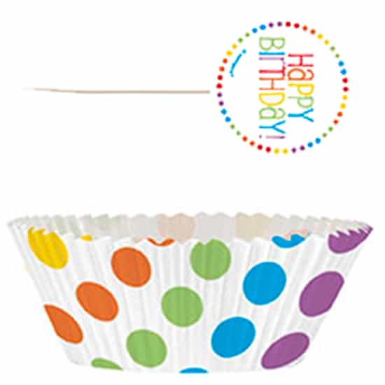 Rainbow Birthday Cupcake Decorating Kit Pack 24 Partyramacouk