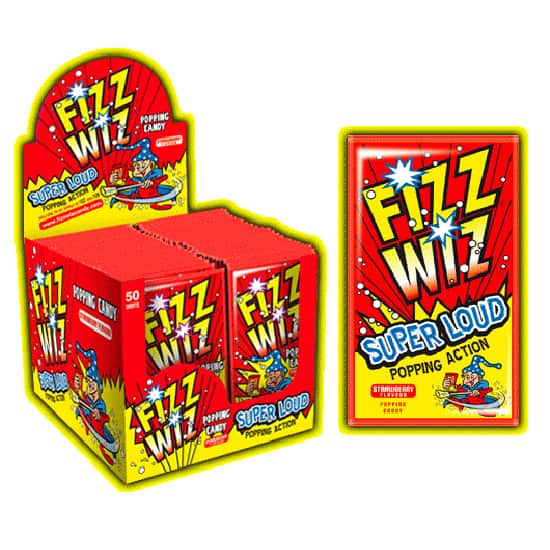 Strawberry Flavour Fizz Wiz Popping Candy Product Image