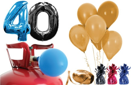 Adult Ages Helium Packages with Balloons