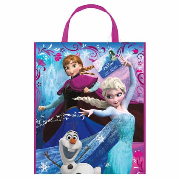 Disney Frozen Plastic Tote Bag - 13 x 11 Inches / 33 x 28cm