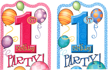 First Birthday Invitations And Thank You Cards Partyrama Co Uk