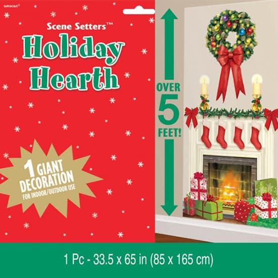 Christmas Fireplace Scene Setter Add-On