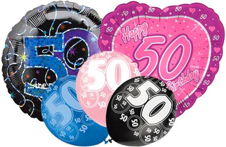 Age 50 Balloons