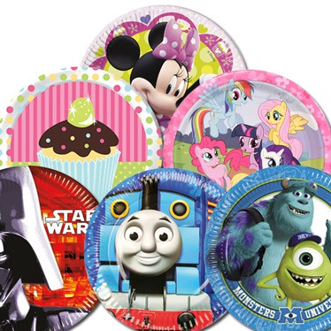 Kids Themed Party Plates