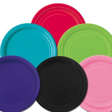Plain Coloured Plates