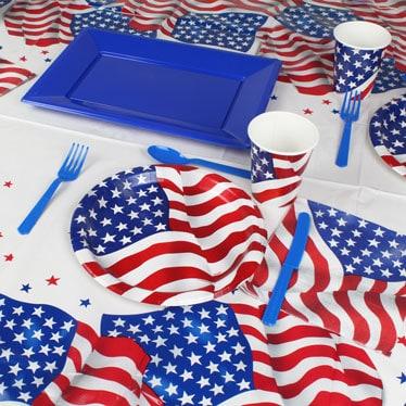 USA Flag Tableware