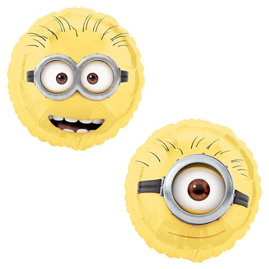 Despicable Me Minion Round Foil Helium Balloon 43cm / 17Inch