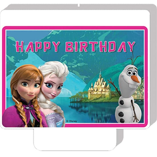 Disney Frozen 'Happy Birthday' Party Candle