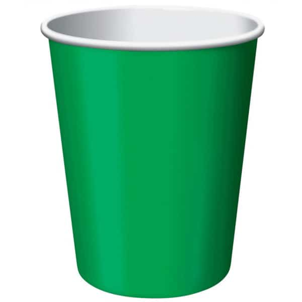 Emerald Green Paper Cups 270ml - Pack of 14