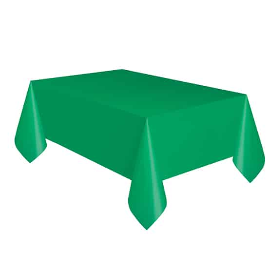 Emerald Green Plastic Tablecover - 137cm x 274cm Product Image