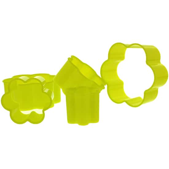 Flower Shape Plastic Cookie Cutters - Pack of 5
