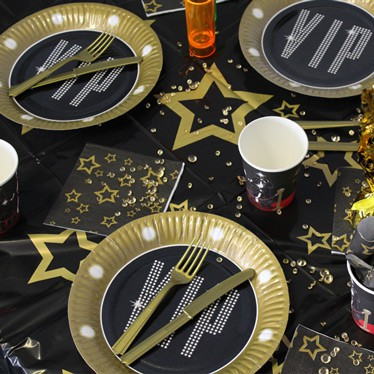 hollywood theme catering and tableware