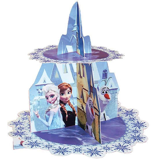 Disney Frozen 2 Tier Cardboard Cupcake Stand Product Image