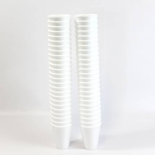 White Poly Cups – 200ml – Pack of 50