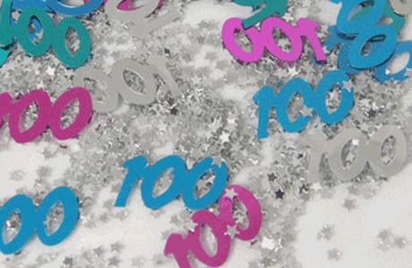 100th Birthday Table Decorations