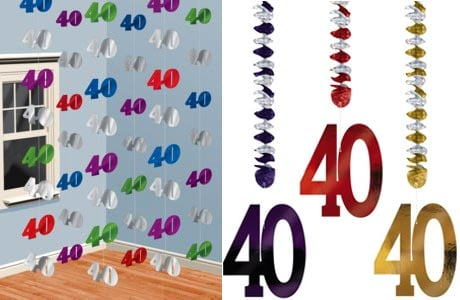 40th birthday party decorations partyrama for 40th bday decoration ideas