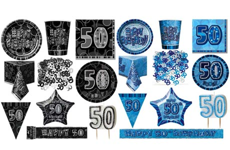 50th birthday party supplies for 50th birthday decoration packs