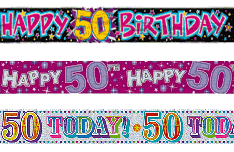 50th Birthday Party Banners