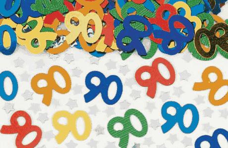 90th Birthday Table Decorations