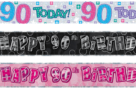 90th Birthday Party Banners