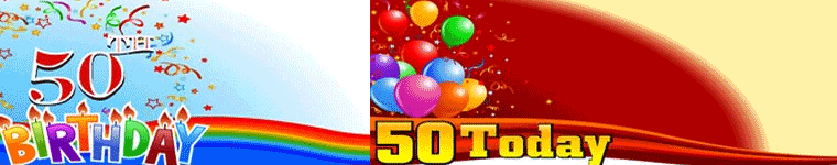 Personalised 50th Banners
