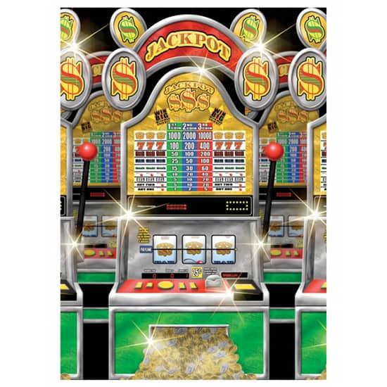 Casino Slot Machines Backdrop Scene Setter Room Roll