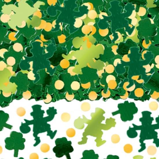 Irish Leprechaun and Shamrock Table Confetti - 70 Grams