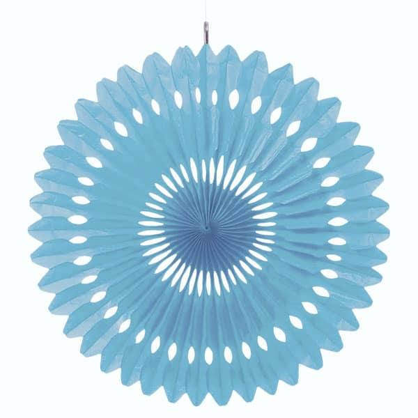 Powder Blue Hanging Decorative Honeycomb Fan 40cm Product Image