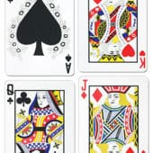Playing Cards Decorative Cutout – 18 Inches / 45cm – Pack of 4