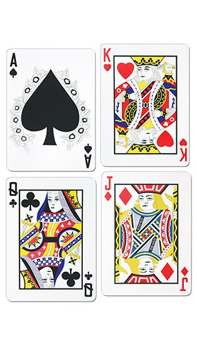 Playing Cards Decorative Cutout - 18 Inches / 45cm - Pack of 4